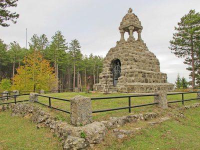 Mackov kamen, kosturnica, Ljubovija, reka Drina, planina Jagodnja, planina Azbukovica, zapadna Srbija, Prvi svetski rat